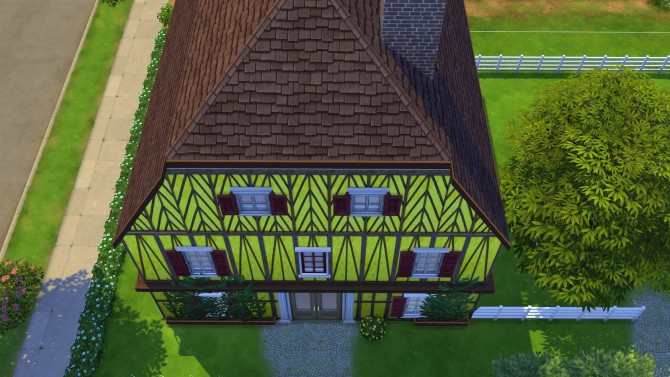 Sims 4 Yellow Alsace walls at Meinkatz Creations