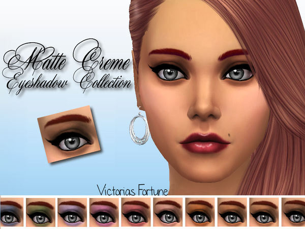 Matte Creme Eyeshadow by fortunecookie1 at TSR image 991 Sims 4 Updates