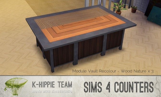 Sims 4 The Vault Module Island Counter at K hippie