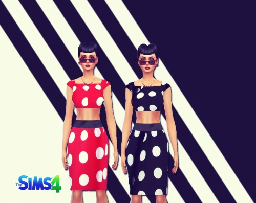 Sims 4 Cropped Retro outfit at Sims 4 Ego