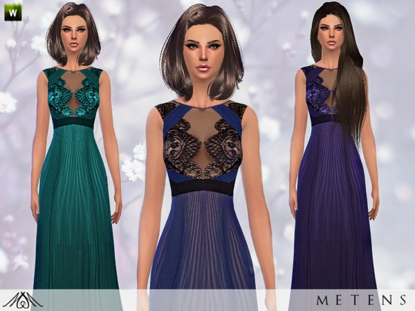 Sims 4 Allure dress by Metens at TSR