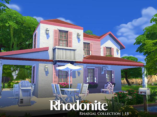 Sims 4 Rhodonite house by Rhaegal at TSR