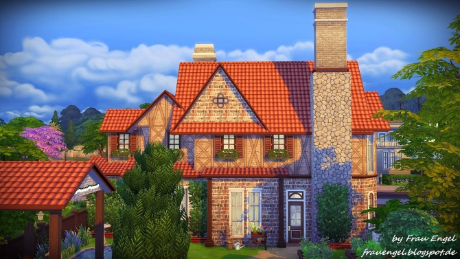 Sims 4 Summer Rain cottage at Frau Engel