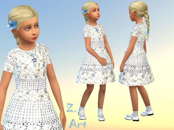 Sims 4 Little Flowers dress by Zuckerschnute20 at TSR