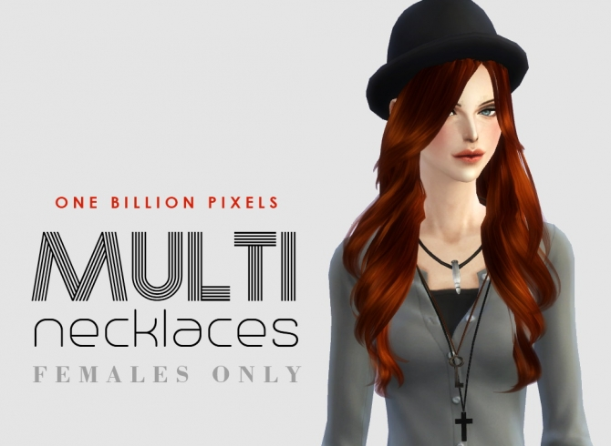 Sims 4 Multi Necklaces 1 for females at One Billion Pixels