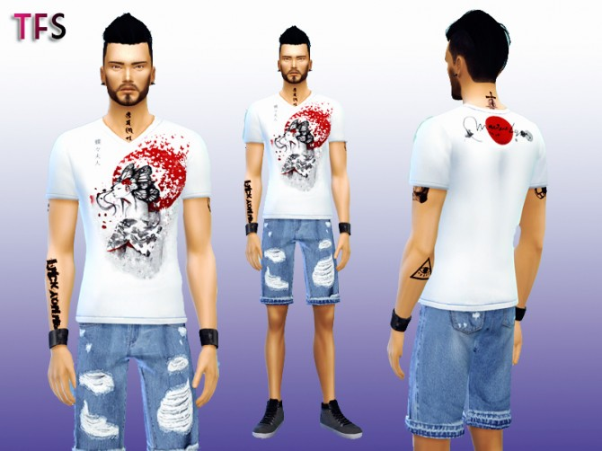 Japanese Shirts Collection at Twistedfate Sims image 11010 670x502 Sims 4 Updates