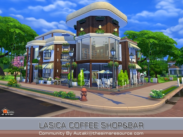 Lasica Coffee Shop by autaki at TSR image 1106 Sims 4 Updates