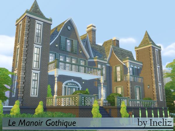 Sims 4 Le Manoir Gothique house by Ineliz at TSR
