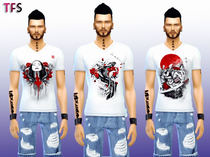 Japanese Shirts Collection at Twistedfate Sims image 1118 670x502 Sims 4 Updates
