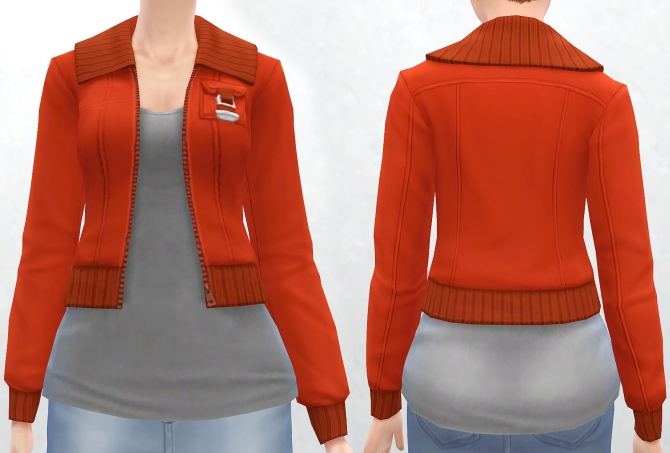 Sims 4 Military Jacket with Simple Tee at Pickypikachu