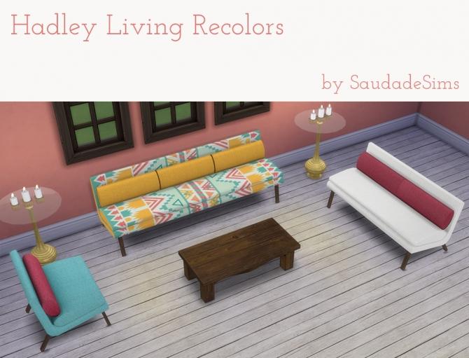 Sims 4 Hadley living recolors at Saudade Sims