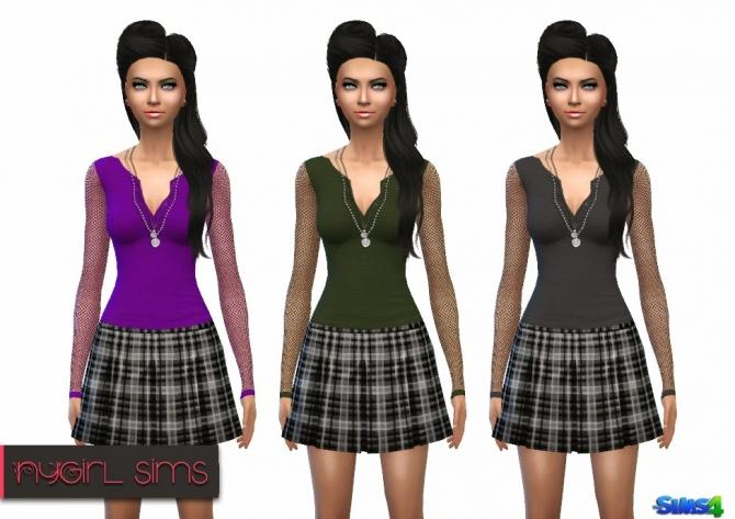 Sims 4 Mesh Sleeve Skull Shirt at NyGirl Sims
