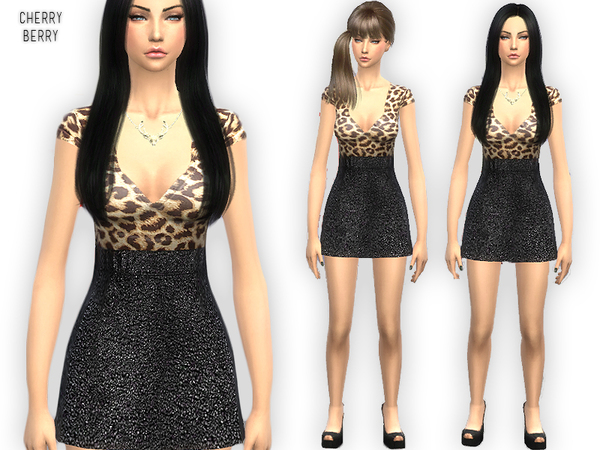 Think Im in love dress by CherryBerrySim at TSR image 1136 Sims 4 Updates