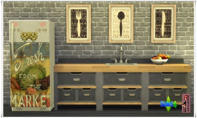 Sims 4 Cool Fridge & Kitchen Pictures at Annett's Sims 4 Welt