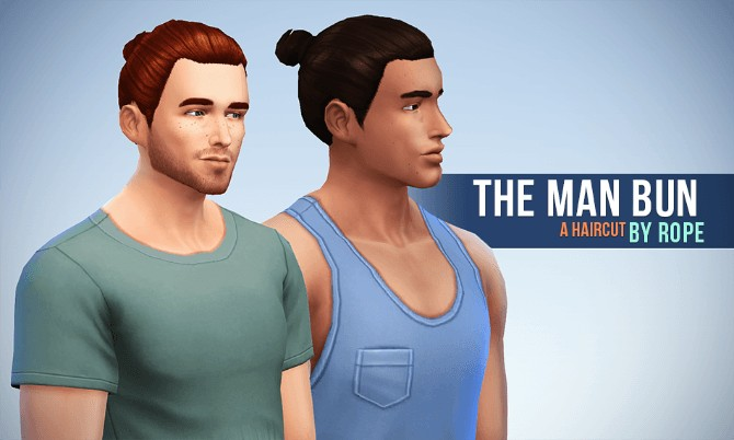 Bun for males at Simsontherope image 12 1 Sims 4 Updates