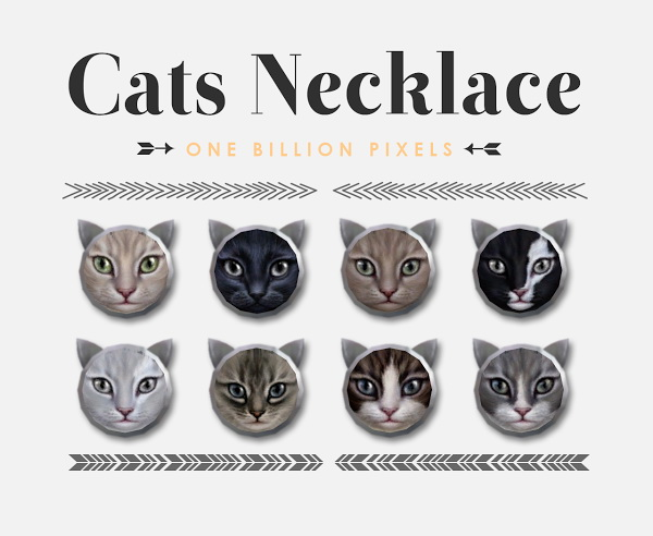 Sims 4 Cats Necklace at One Billion Pixels