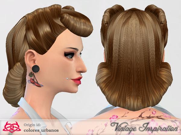 Victory Rolls 03 Hair By Colores Urbanos At Tsr 187 Sims 4
