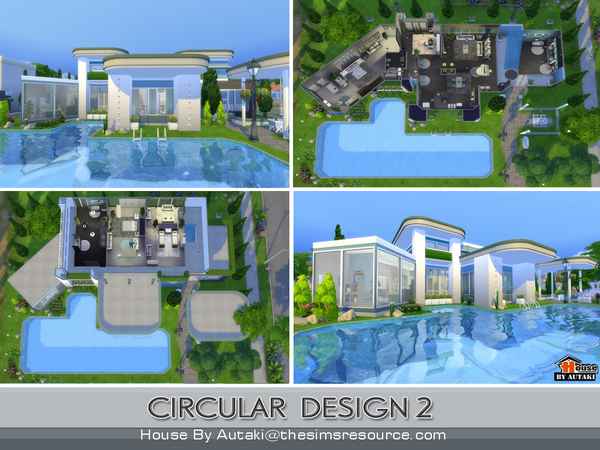 circular modern design2 house by autaki at tsr - Sims 4 Home Design 2