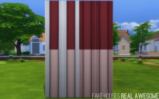 Borderline add on left and right edge at fake houses real for Awesome sims