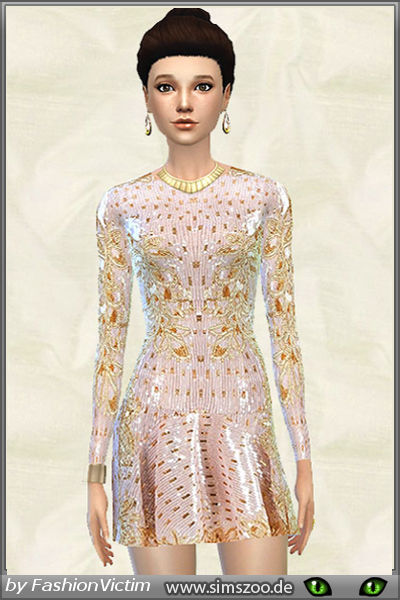 Pale Pink Silk dress by Fashion Victim at Blacky's Sims Zoo image 1219 Sims 4 Updates