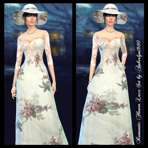 Romantic Flower Lace Set at Amberlyn Designs image 1266 Sims 4 Updates