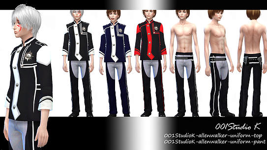 Sims 4 Uniforms, dresses... at Studio K Creation