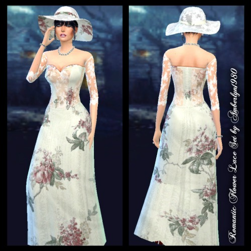 Sims 4 Romantic Flower Lace Set at Amberlyn Designs