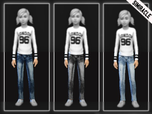 Sims 4 Jeans for kids at Simiracle