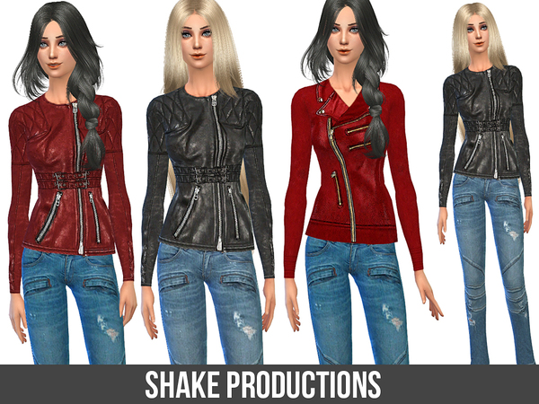 Sims 4 2 jackets with 2 jeans by ShakeProductions at TSR