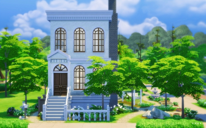 BLEACHED TOWN HOUSE at Alachie & Brick Sims image 1297 Sims 4 Updates