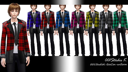 Uniforms, dresses... at Studio K Creation image 130 Sims 4 Updates