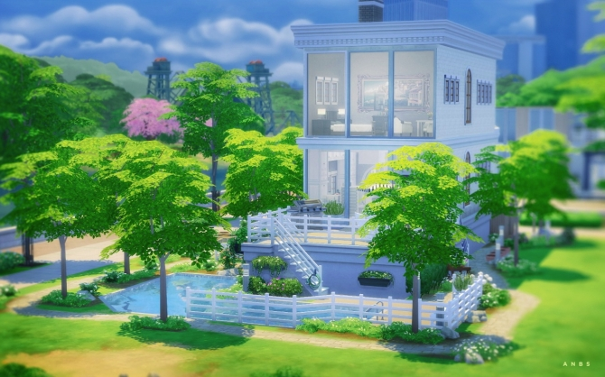 BLEACHED TOWN HOUSE at Alachie & Brick Sims image 1307 Sims 4 Updates