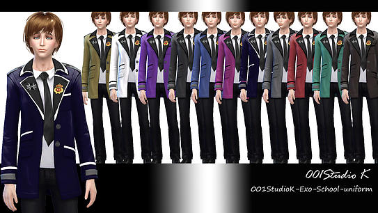 Uniforms, dresses... at Studio K Creation image 131 Sims 4 Updates