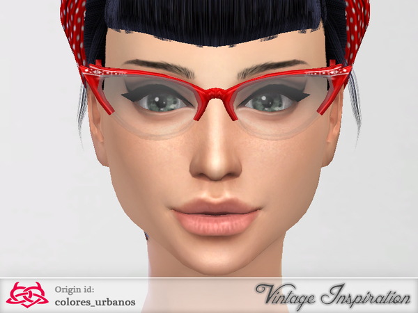 Cat Eye Glasses by Colores Urbanos at TSR image 13103 Sims 4 Updates