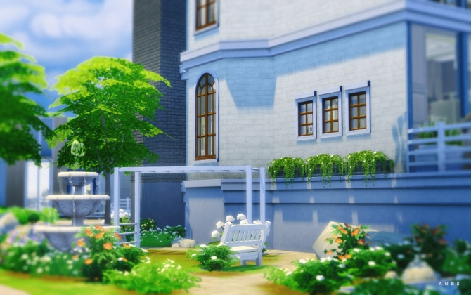 BLEACHED TOWN HOUSE at Alachie & Brick Sims image 13113 Sims 4 Updates