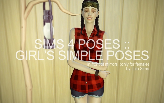 GIRL'S SIMPLE POSES (IN GAME) at LILO Sims4 image 13115 Sims 4 Updates