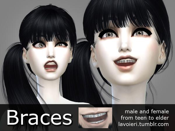 Sims 4 Braces by Lavoieri at TSR