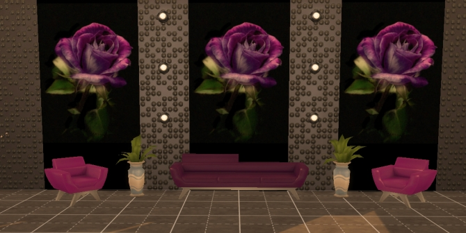 Sims 4 Photo Wall Mural Purple rose by Simchanka at ihelensims