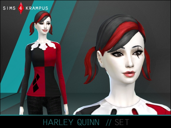 harley quinn set at sims 4 krampus sims 4 updates