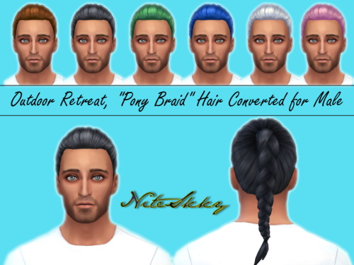 Pony Braid hair conversion for males at NiteSkky Sims image 13312 Sims 4 Updates