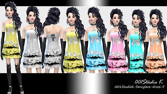 Dresses, jackets, skirt and uniforms at Studio K Creation image 138 Sims 4 Updates