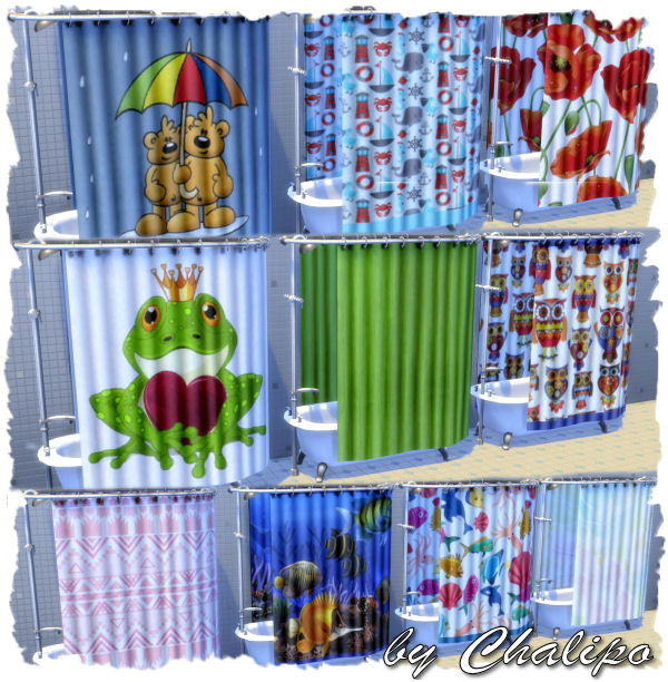Shower curtains and rugs by Chalipo at All 4 Sims image 1390 Sims 4 Updates