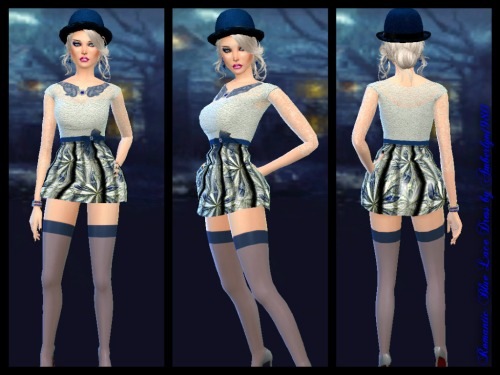Sims 4 Romantic Blue Jeans & Lace Collection at Amberlyn Designs
