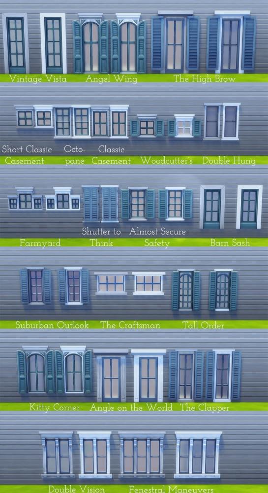 Sims 4 20 base game windows redone at Saudade Sims