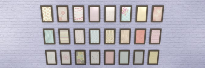 Sims 4 63 paintings, 39 brights, 24 pales at Saudade Sims