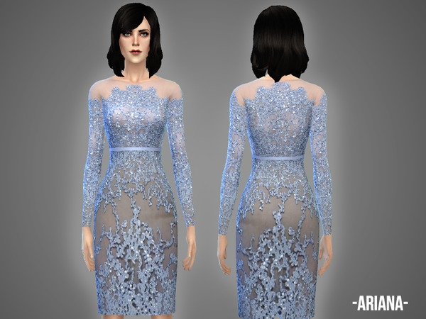 Sims 4 Ariana dress by April at TSR
