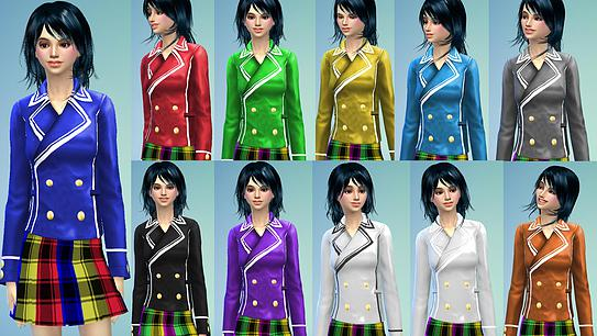 Dresses, jackets, skirt and uniforms at Studio K Creation image 143 Sims 4 Updates