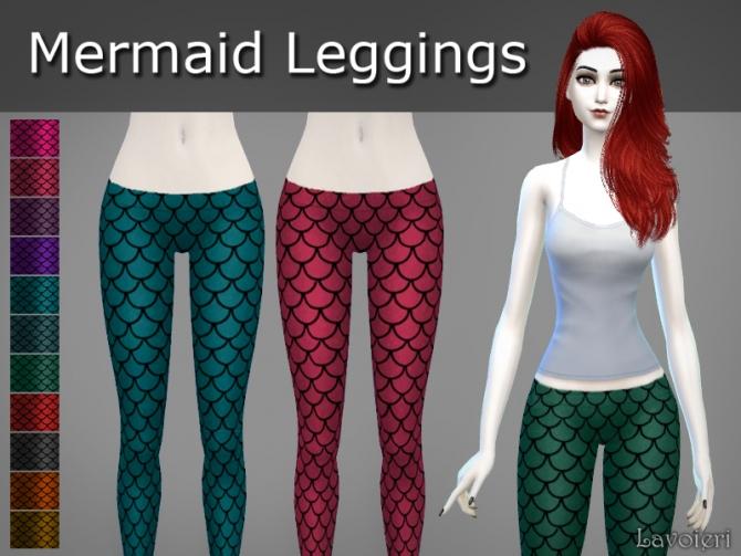 Sims 4 Mermaid Leggings at Lavoieri