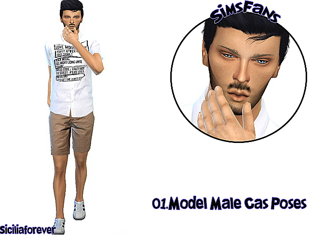 Sims 4 Model Male Cas Poses by Siciliaforever at Sims Fans