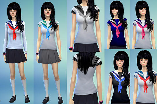 Dresses, jackets, skirt and uniforms at Studio K Creation image 145 Sims 4 Updates